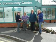 Hook in Bloom planting at Community Centre April 2016 13