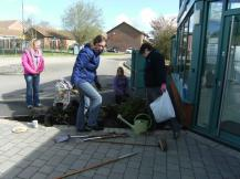 Hook in Bloom planting at Community Centre April 2016 3.