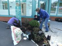 Hook in Bloom planting at Community Centre April 2016 5